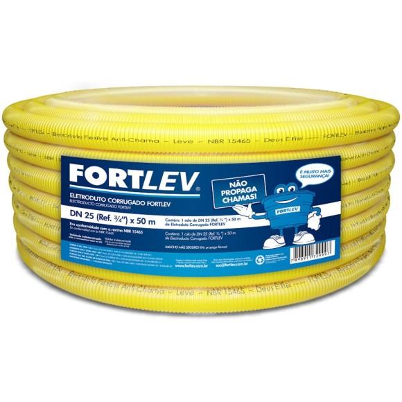 CONDUITE AMARELO 3/4 50M - FORTLEV